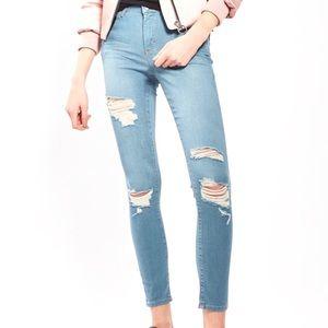 NWT // Topshop Super Rip Leigh Jeans